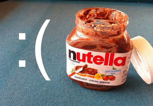 Sabe quando você descobre que acabou a nutella? Era assim todo dia.