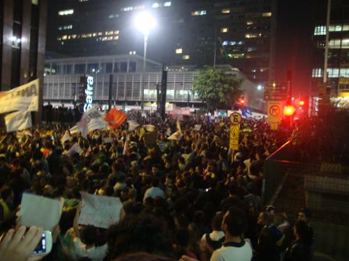 Paulista lotada no dia 18: pressão popular que deu certo
